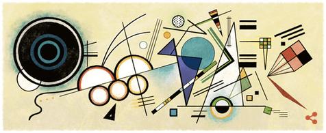 Googleロゴ「ワシリー カンディンスキー」に