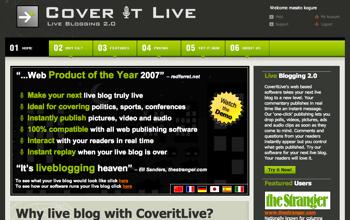 ブログのテキスト生中継を実現する「COVERITLIVE.COM」