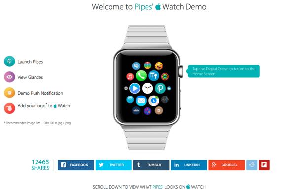 「Apple Watch」の操作を体験できるサイト