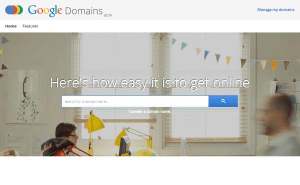 「Google Domains」アメリカで一般向けに提供開始