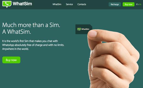 「WhatsApp」だけ世界中で使えるようになる専用SIMカード「WhatSim」価格は1年10ユーロ