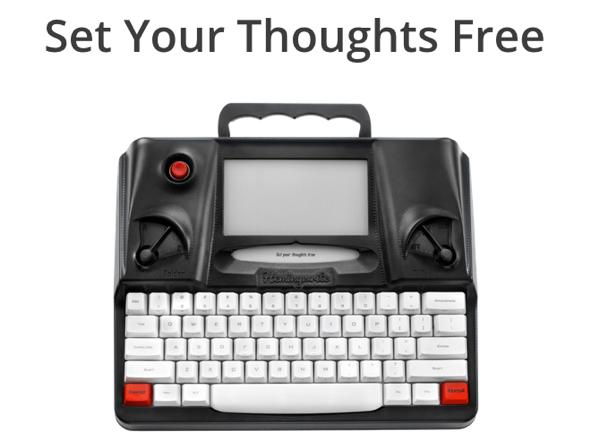 「Hemingwrite」ただ文字入力するのみ!Eインクを採用した現代版タイプライター