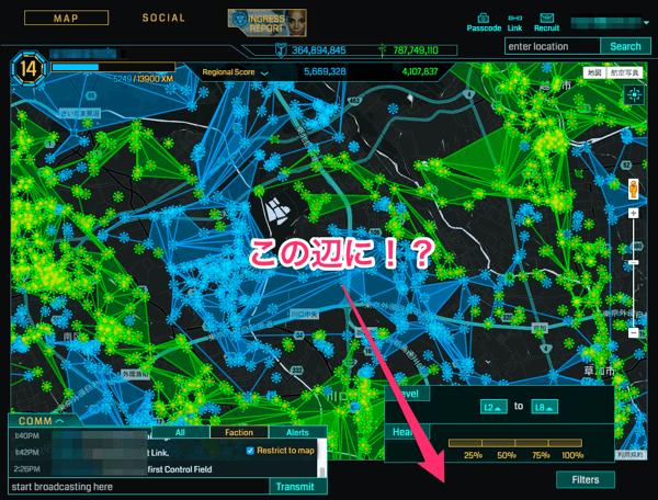 【Ingress】Intel Mapからミッション(MISSION)を確認可能に