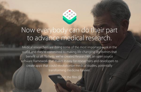 Apple、iPhoneで喘息、乳がん、糖尿病などの患者のデータを収集する「ResearchKit」発表