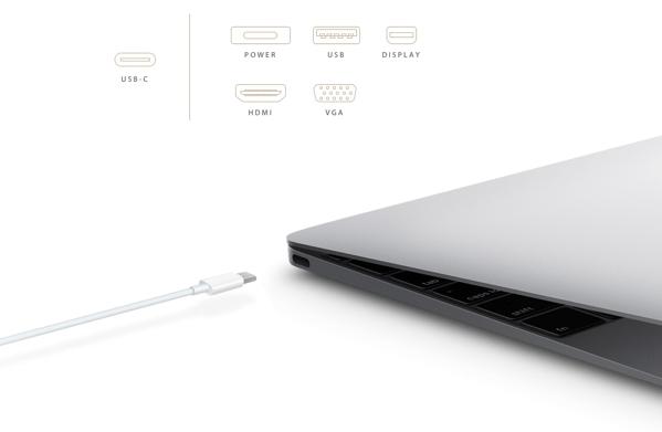 「MacBook 12インチ」USB-Cによりモバイルバッテリーでの充電も可能に