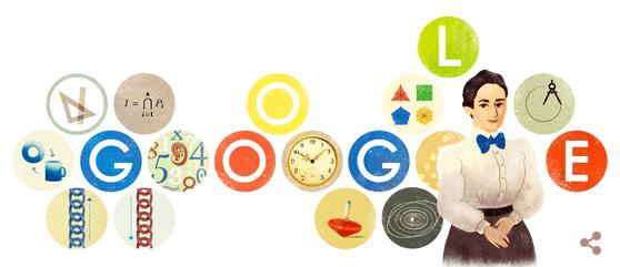 Googleロゴ「エミー ネーター」に