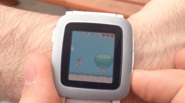 【Pebble Time】カラー液晶でこんなゲームもプレイできるようになっている