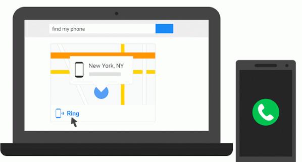 【Android】「Find my phone」とググると端末の場所が分かる機能が追加