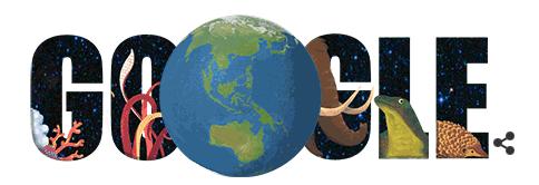 Googleロゴ、動物診断を試せる「アースデー」に
