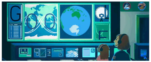 Googleロゴ「サリー ライド」に(アメリカの女性宇宙飛行士)