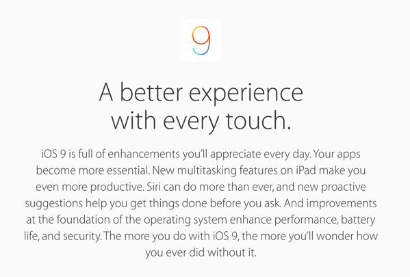 「iOS 9」バッテリーの持ちもよくなる!2015年秋にリリースへ → iPadは2つのアプリを並べて使う「Split View」が可能に
