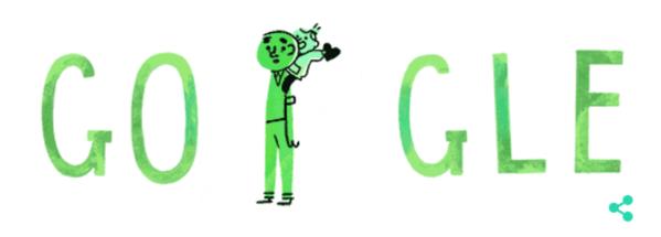 Googleロゴ「父の日」に