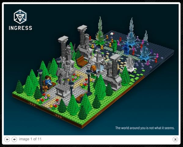 【Ingress】手にスキャナー持ってる!LEGOで再現されるIngressの世界