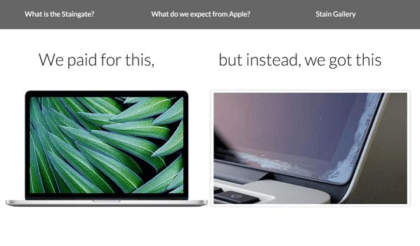 MacBookのディスプレイにしみができる「Staingate」事件!?