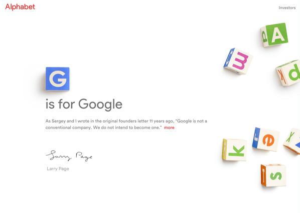 Googleが組織再編で新会社「Alphabet」設立 → Googleが子会社に