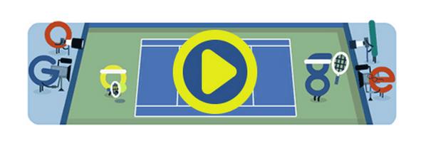 Googleロゴ「全米オープンテニス 2015 開幕」