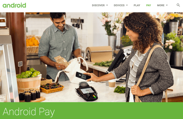 Google、モバイル決済「Android Pay」アメリカで開始