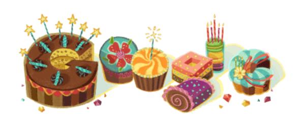 Googleロゴ「○○さん、誕生日おめでとう!」に