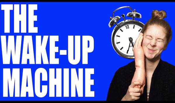 【動画】これは絶対に起きるwww ビンタ早起きマシンwww