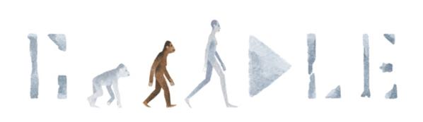 Googleロゴ「アウストラロピテクス ルーシー」に