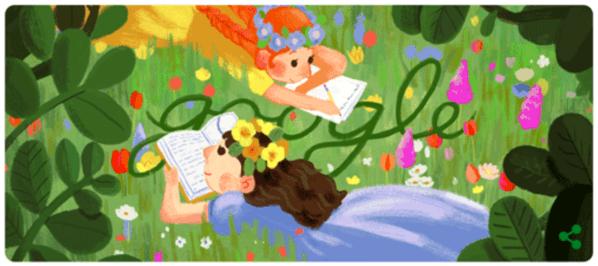 Googleロゴ「ルーシー・モード・モンゴメリ」に