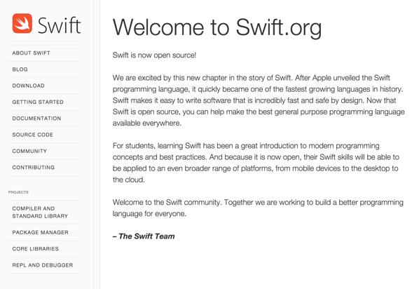 Apple、プログラミング言語「Swift」をオープンソースとしてリリース