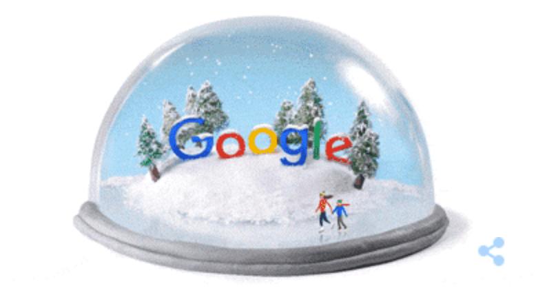 Googleロゴ「冬至」に