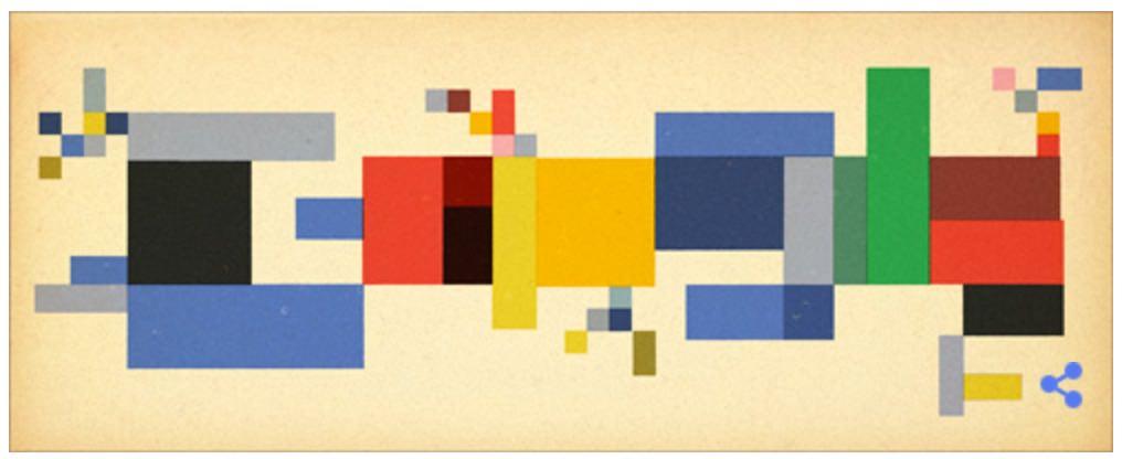 Googleロゴ「ゾフィー トイバー アルプ」に
