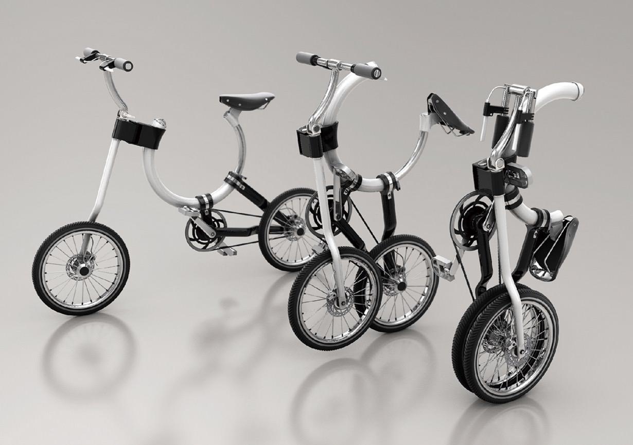 折り畳みというよりはフレームをスライド‥‥?円形のフレームでコンパクトになる折り畳み自転車「Somerset」