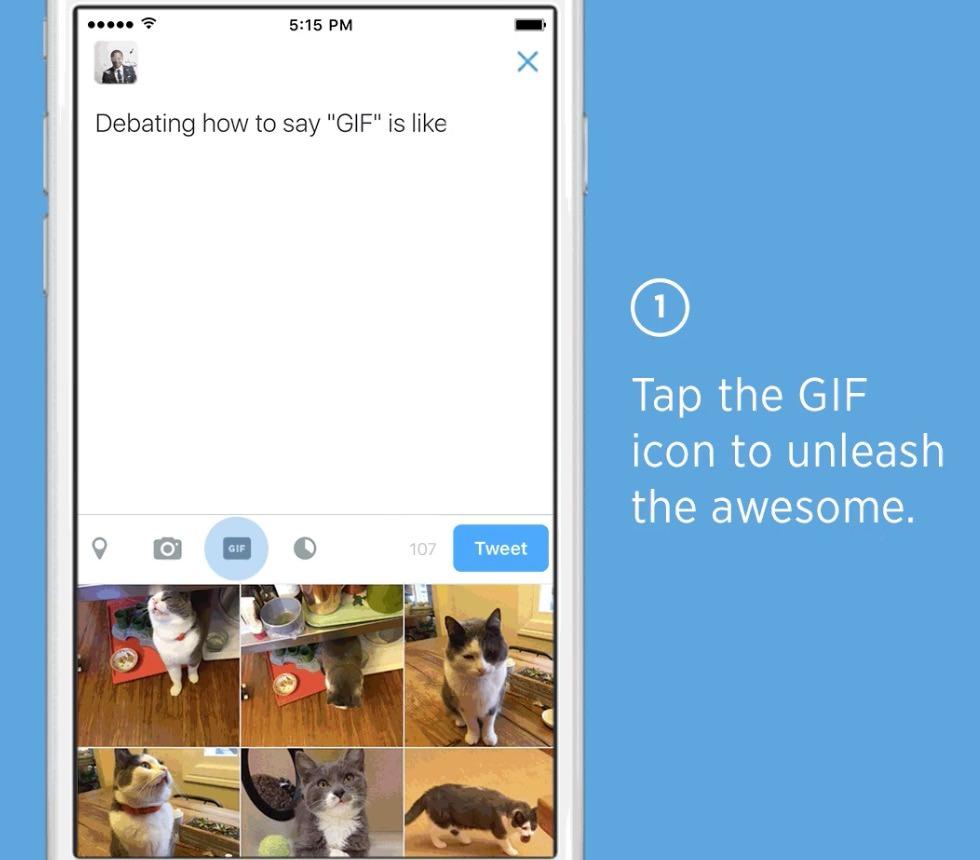 【Twitter】GIFアニメを検索してツイートに添付が可能に
