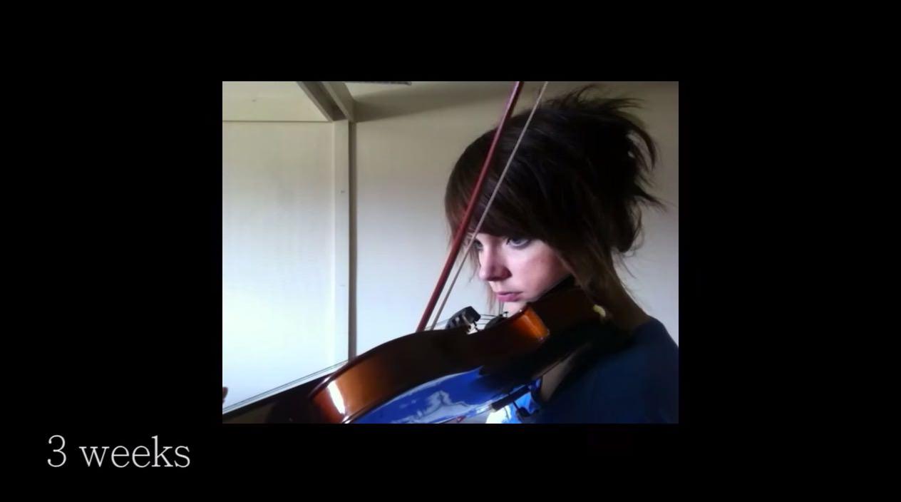 【動画】バイオリン初心者だった女性が2年間で上達していく様子を収めた動画