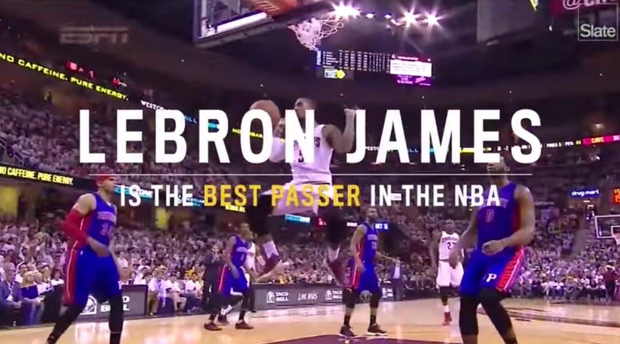 【動画】み、見えない!バスケットボール・Lebron James(レブロン・ジェームズ)の超絶すごいパス動画