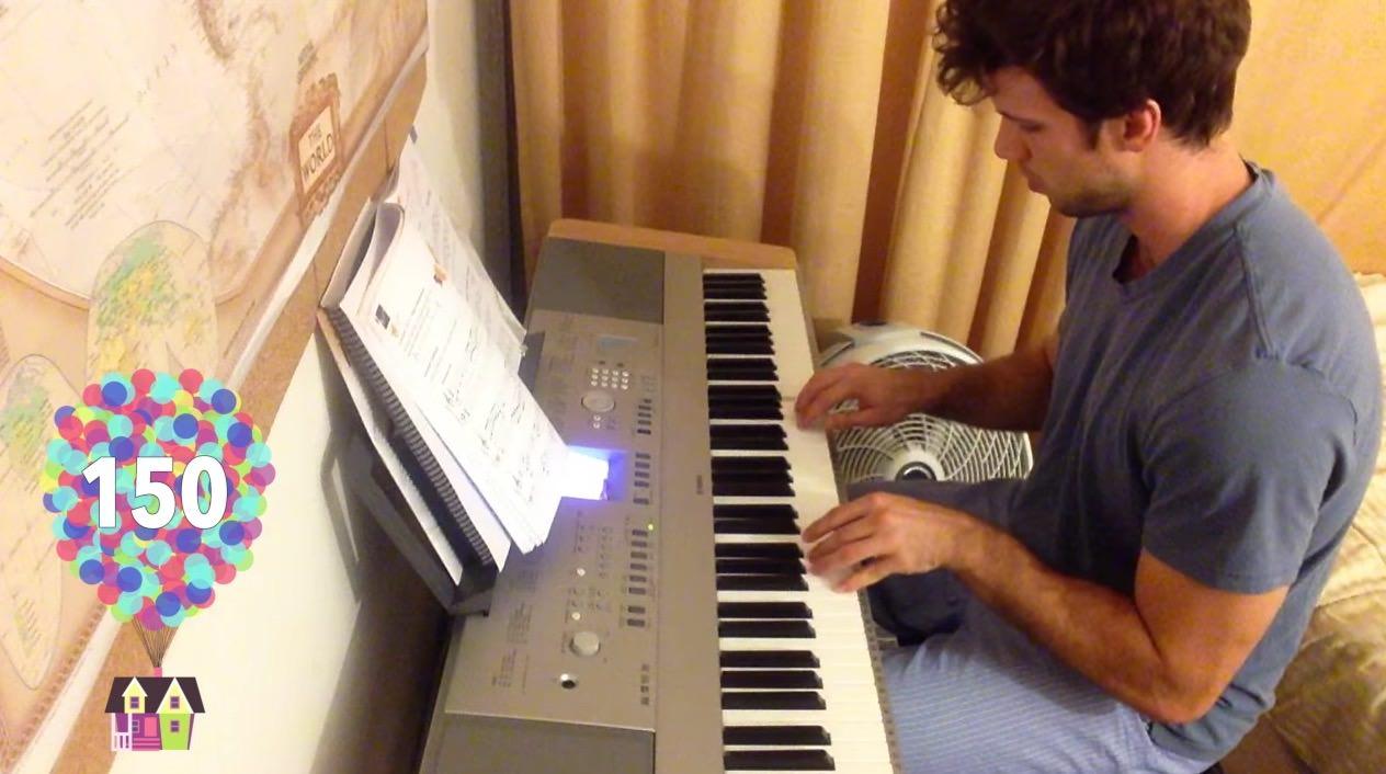 【動画】ピアノ初心者が「カールじいさんの空飛ぶ家」を300日間弾き続けた結果