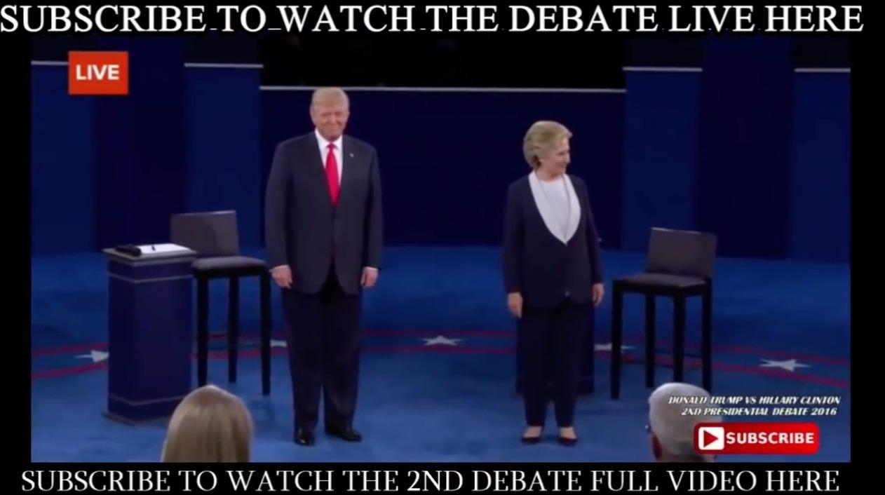 【動画】三年目の浮気!?トランプとヒラリーの討論がまるでデュエット!