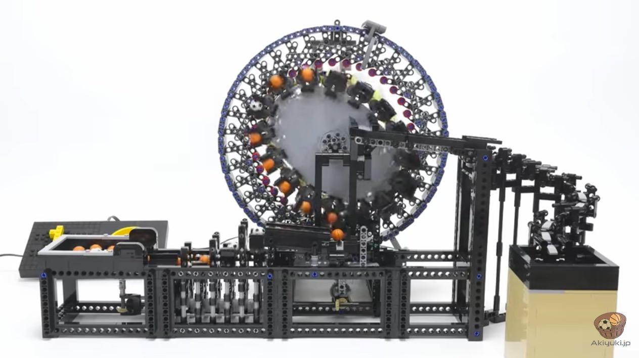 【動画】レゴで作られたウネウネと動いてボールを運ぶ装置(波動歯車装置)