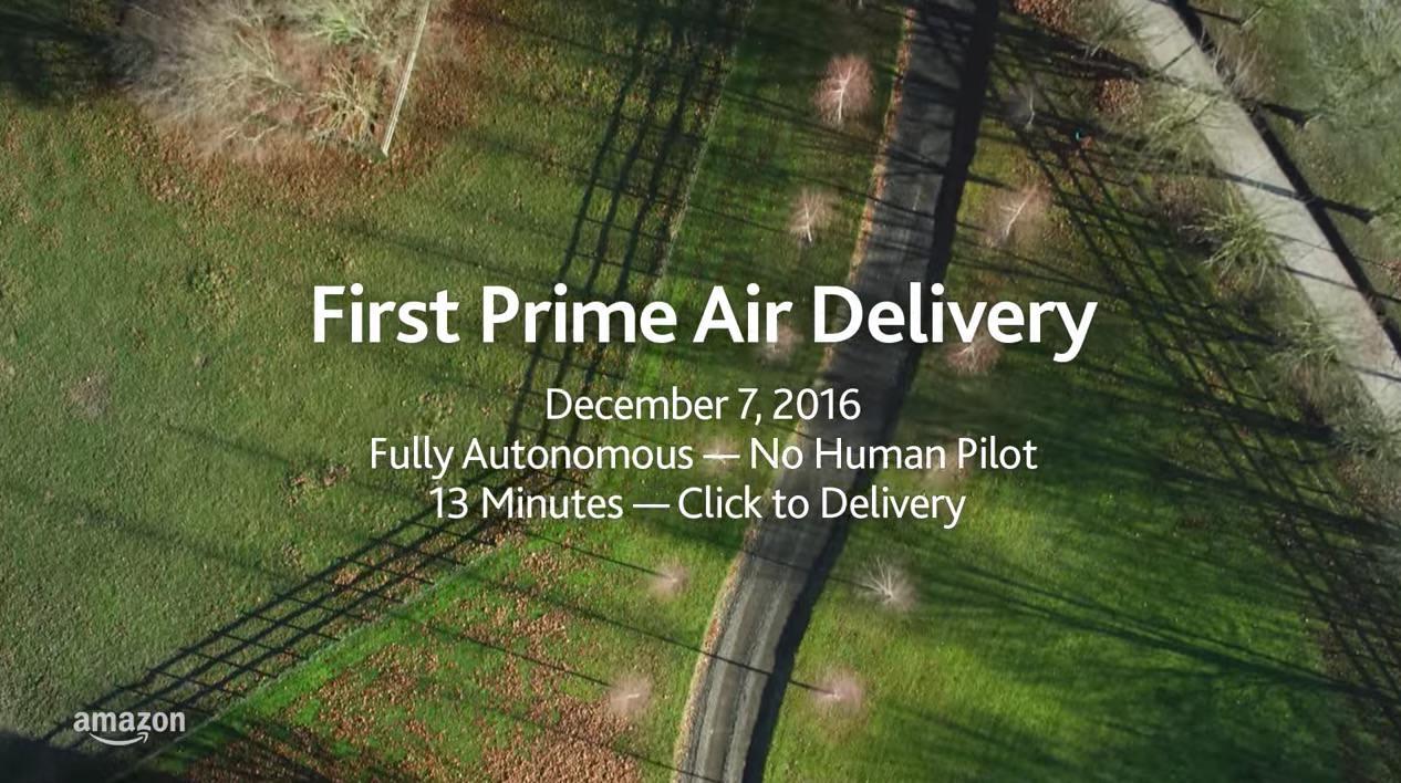 【動画】「Amazon Prime Air」イギリスでドローンによる配達に成功
