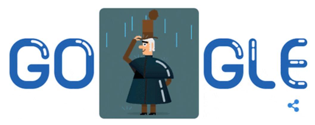 Googleロゴ「チャールズ マッキントッシュ」に(防水布の発明者)
