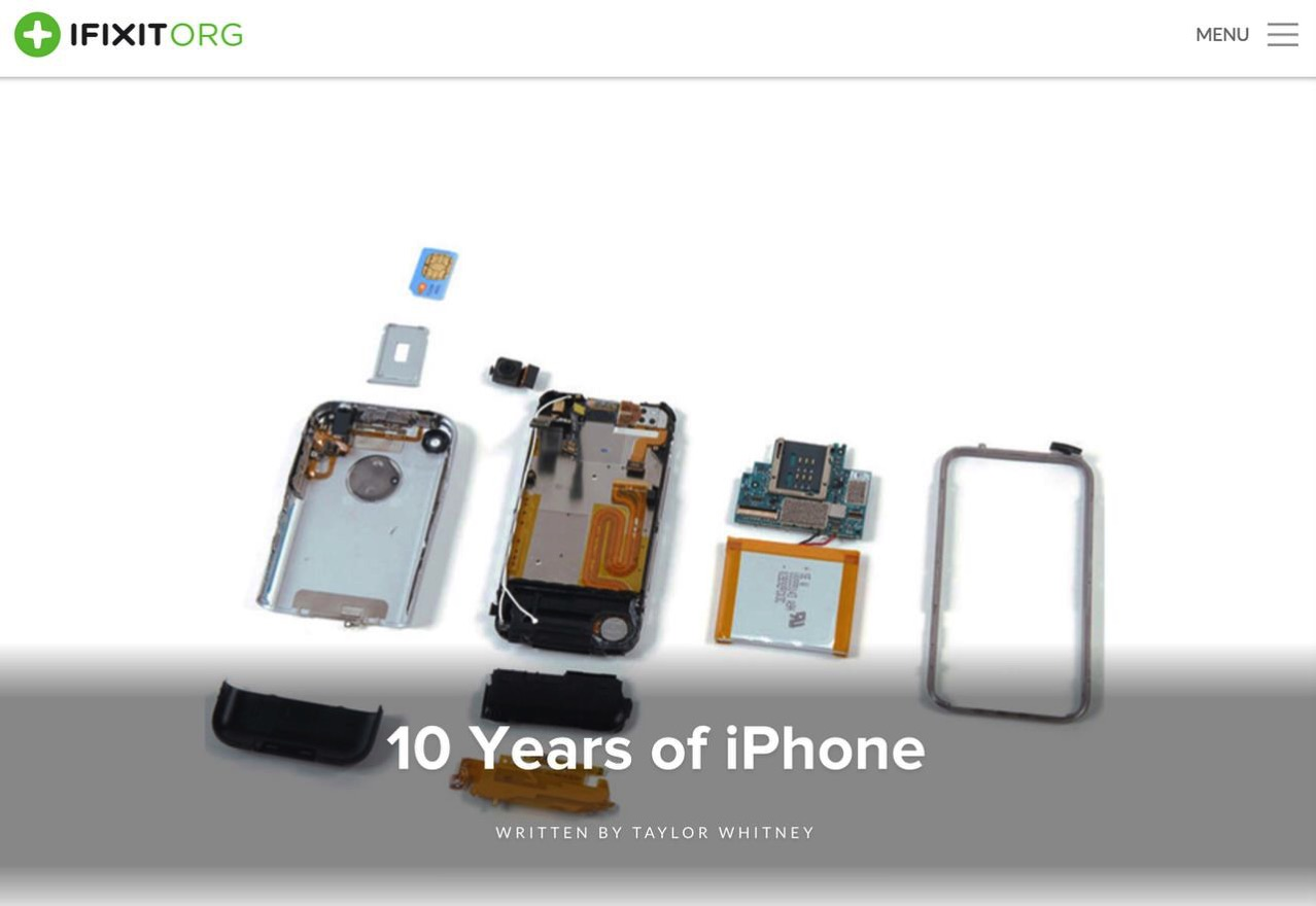【iPhone 10周年】iPhoneはどう進化したか?歴代分解とサイズ比較