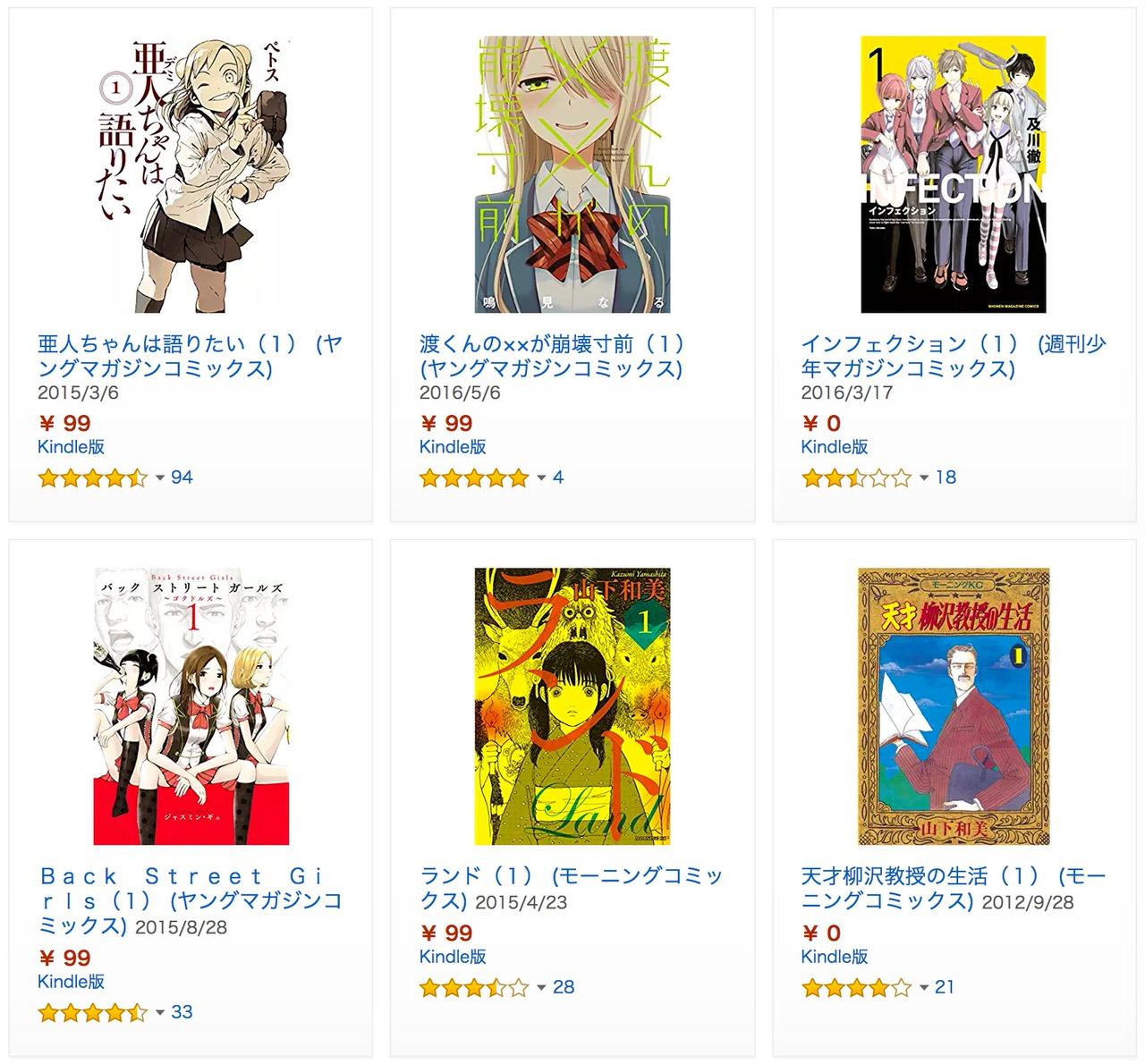 【Kindle】【期間限定無料多数】「冬☆電書」少年・青年コミックセール (1/19まで)