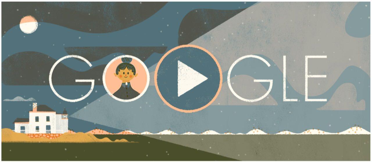 Googleロゴ「アイダ ルイス」に(アメリカ合衆国史上最も有名な灯台守)