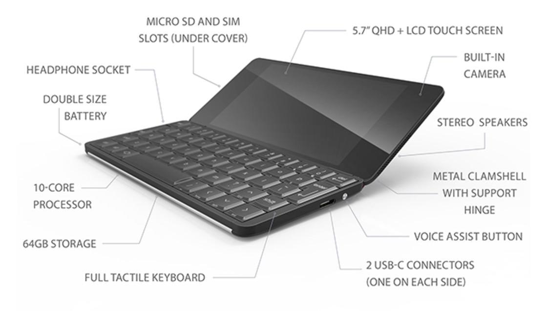 QWERTYキーボードを搭載したPsionみたいなPDA「Gemini」349ドルで出資募集中