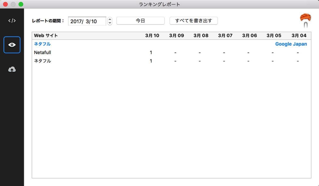 登録したキーワードを検索エンジンで順位チェックするMac用ソフト「RankGuru SEO」