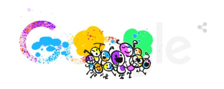 Googleロゴ「ホーリー祭」に