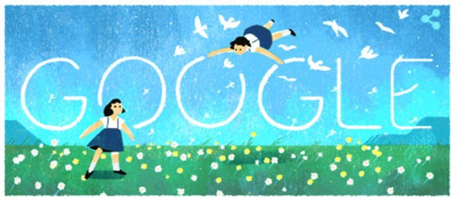 Googleロゴ「金子みすゞ」に(童謡詩人)