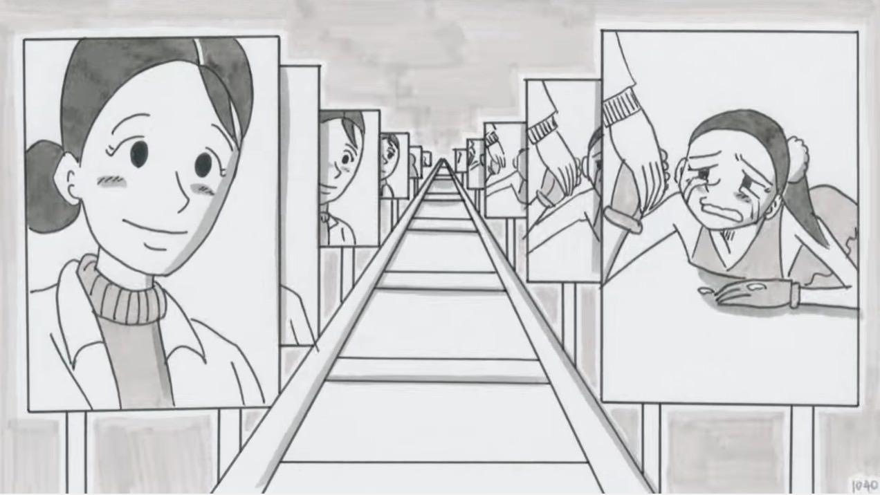 鉄拳が浅田真央をモデルに描いたパラパラ漫画「SLIDE」