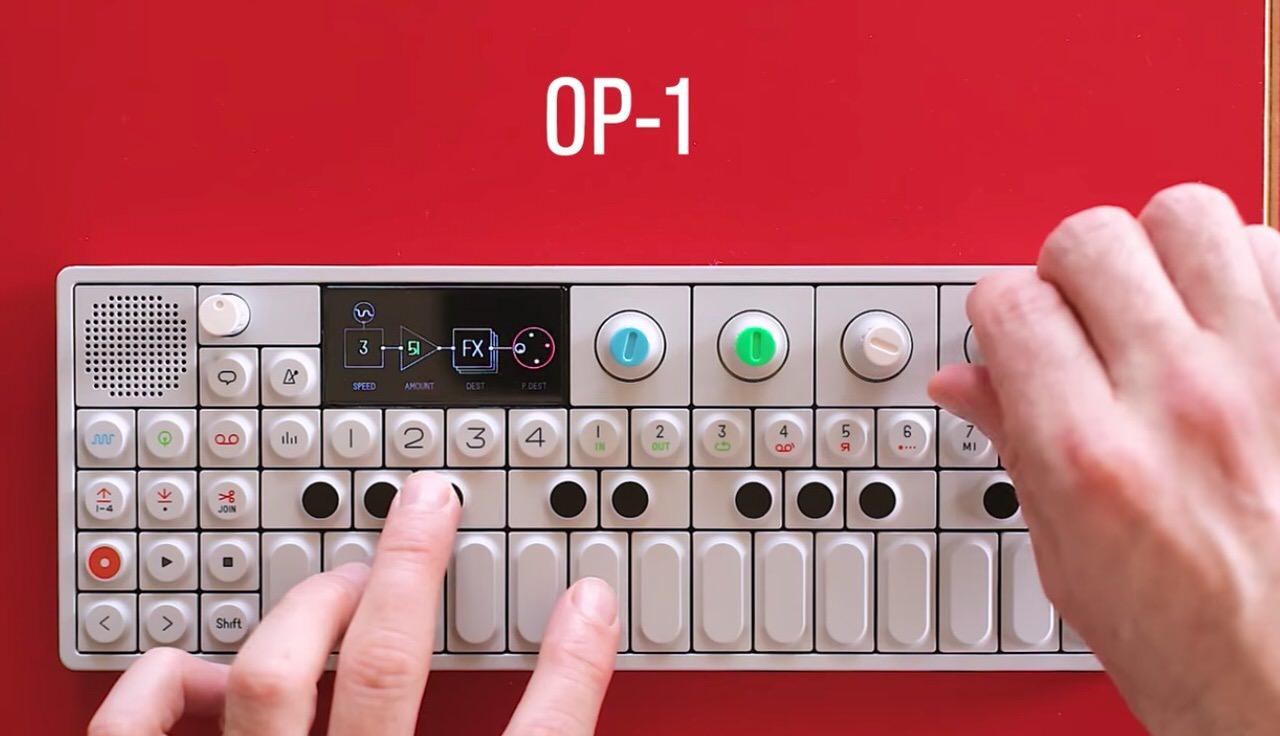 【動画】「OP-1」というかわいいシンセサイザーで楽曲を作る様子