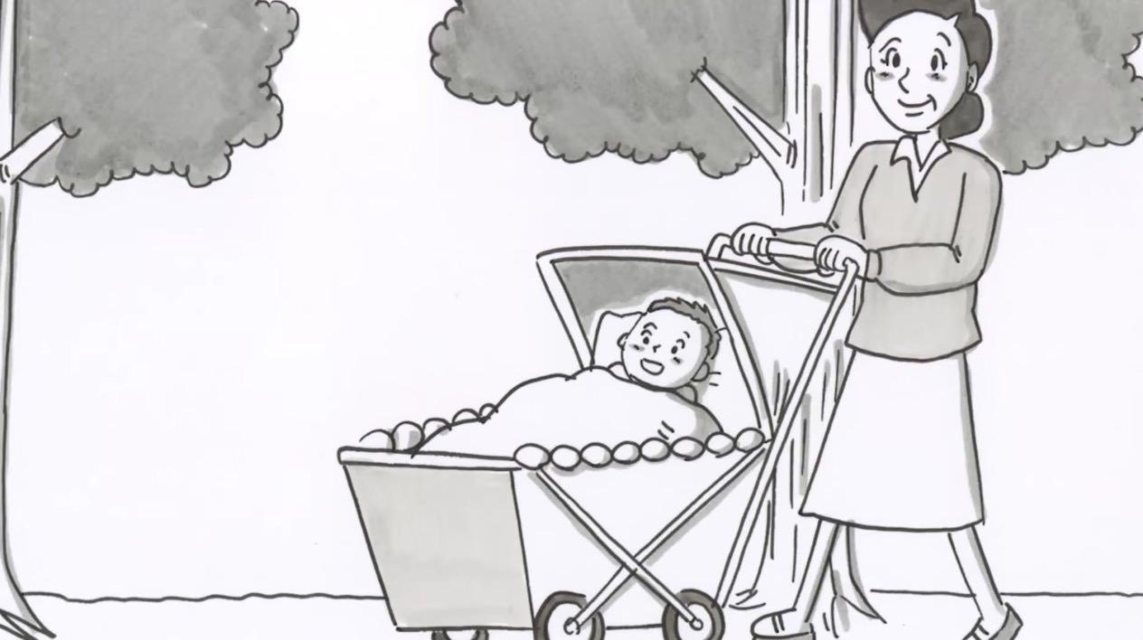 【涙】鉄拳、転倒予防を目的としたパラパラ漫画「母の辛抱と、幸せと。」