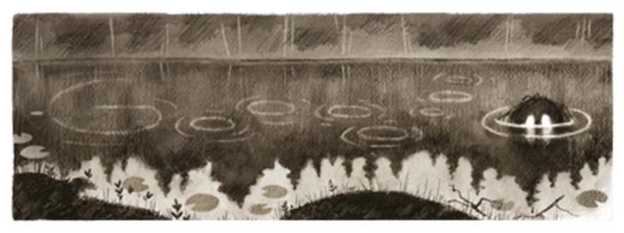 Googleロゴ「テオドール キッテルセン」に(ノルウェーの画家)