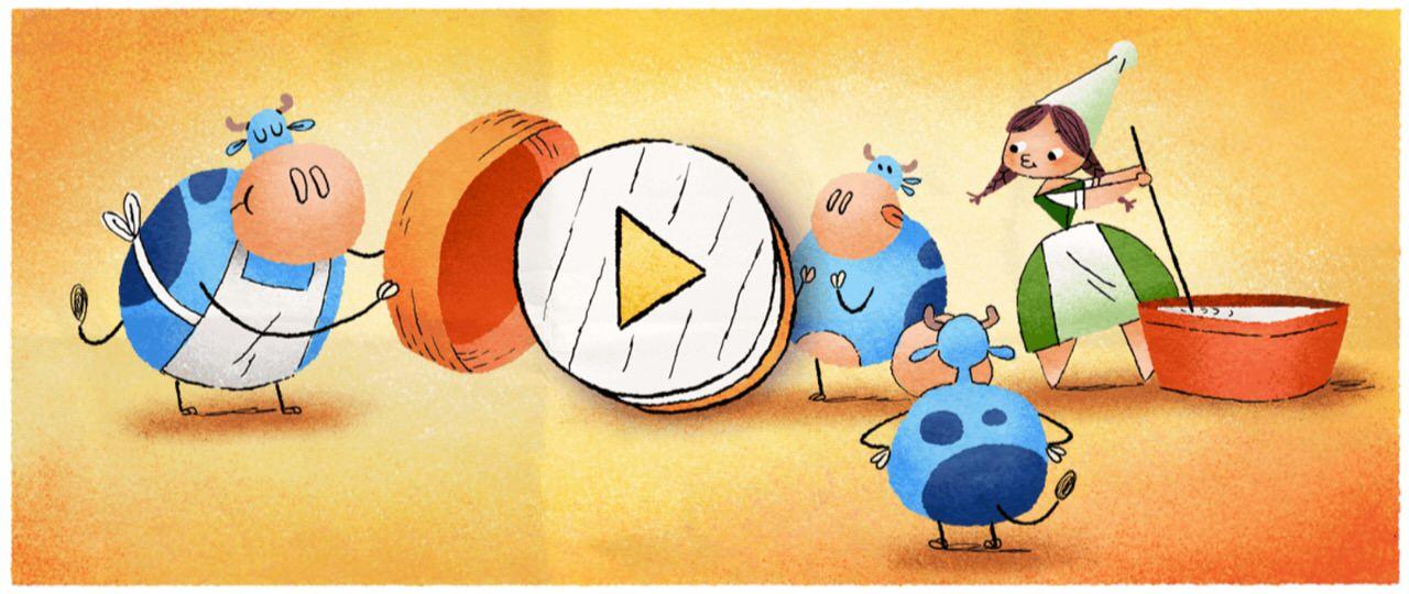 Googleロゴ「マリー・アレル」に(カマンベールの発明者)