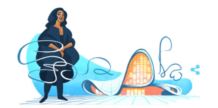 Googleロゴ「ザハ ハディド」に